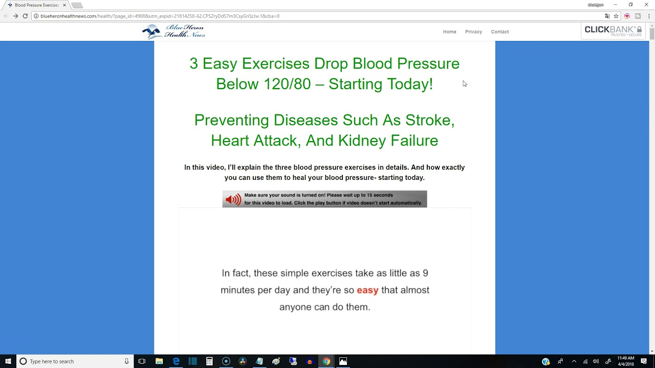 Blood Pressure Program